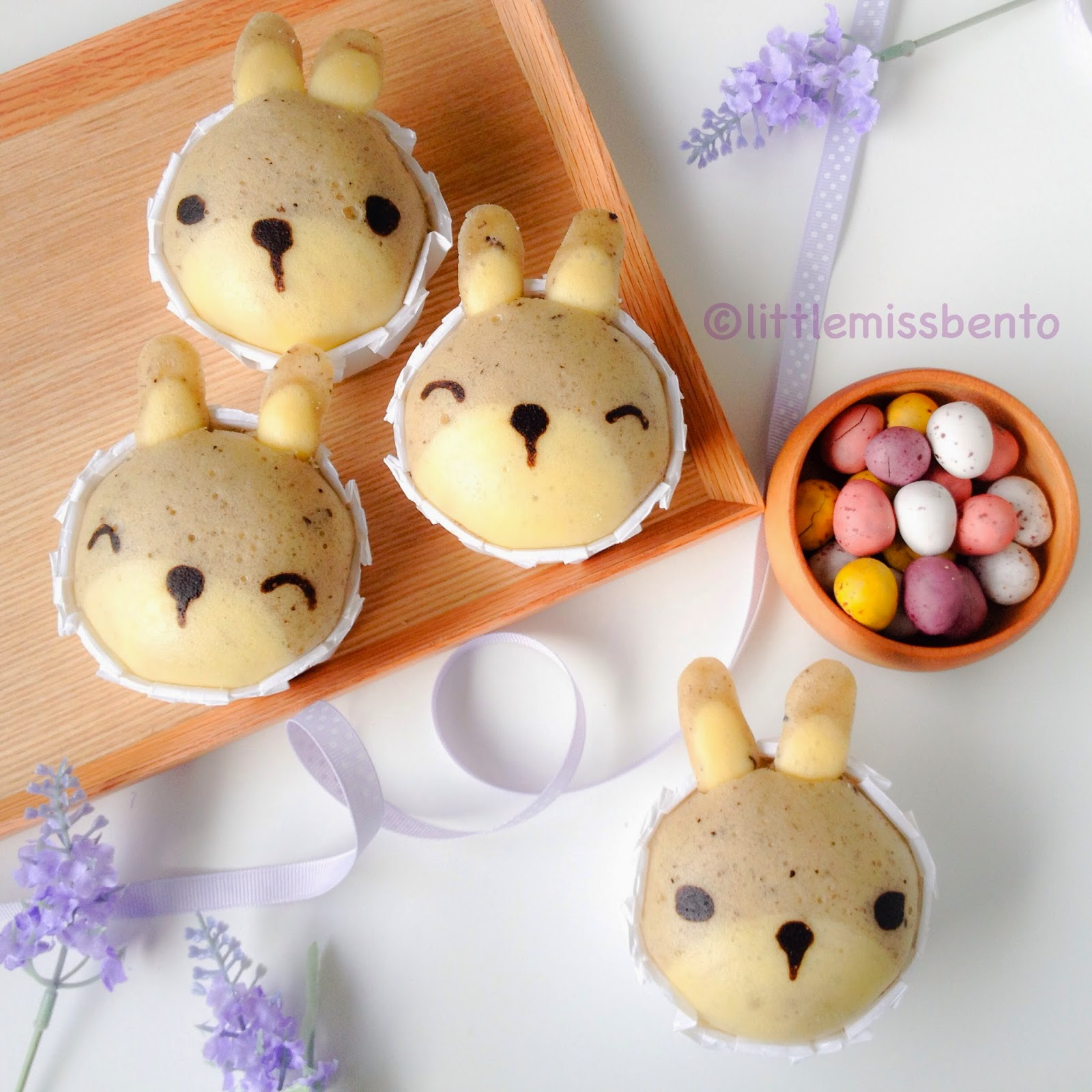 Bunny Yogurt Steamed Cake Recipe (Japanese Mushi-pan) うさぎの ...
