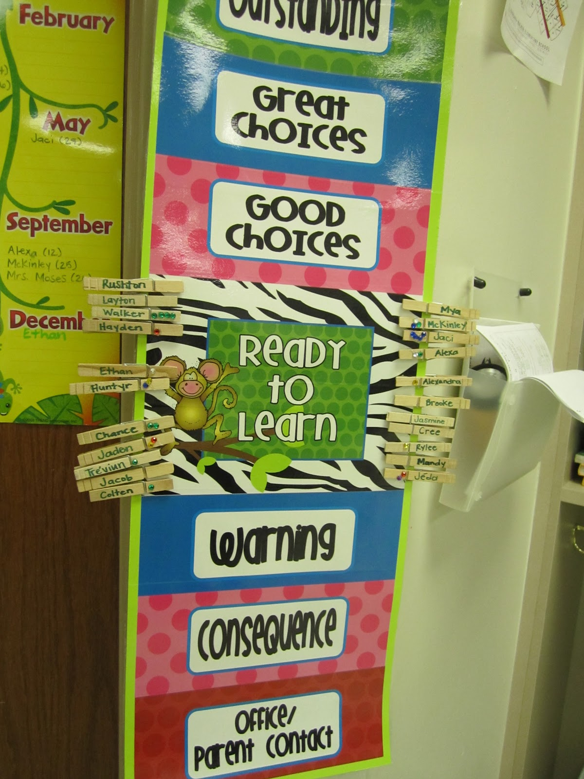 First Grade Glitter And Giggles Behavior Clip Chart