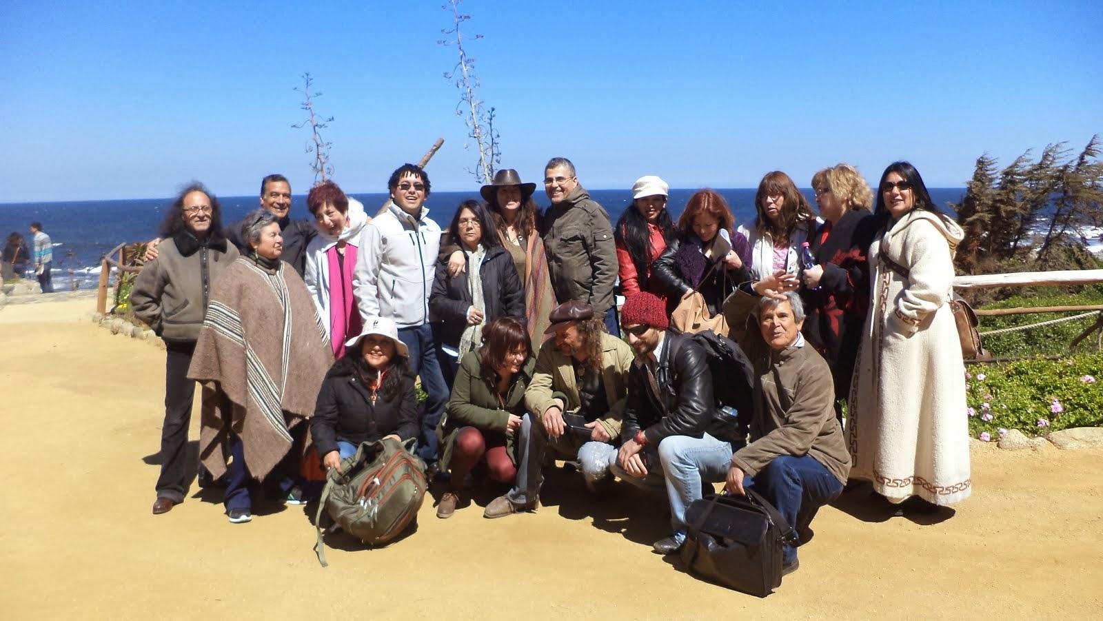 ENCUENTRO AIRES POÉTICOS organizado por Rossanna Arellana y Angel Salas en ISLA NEGRA