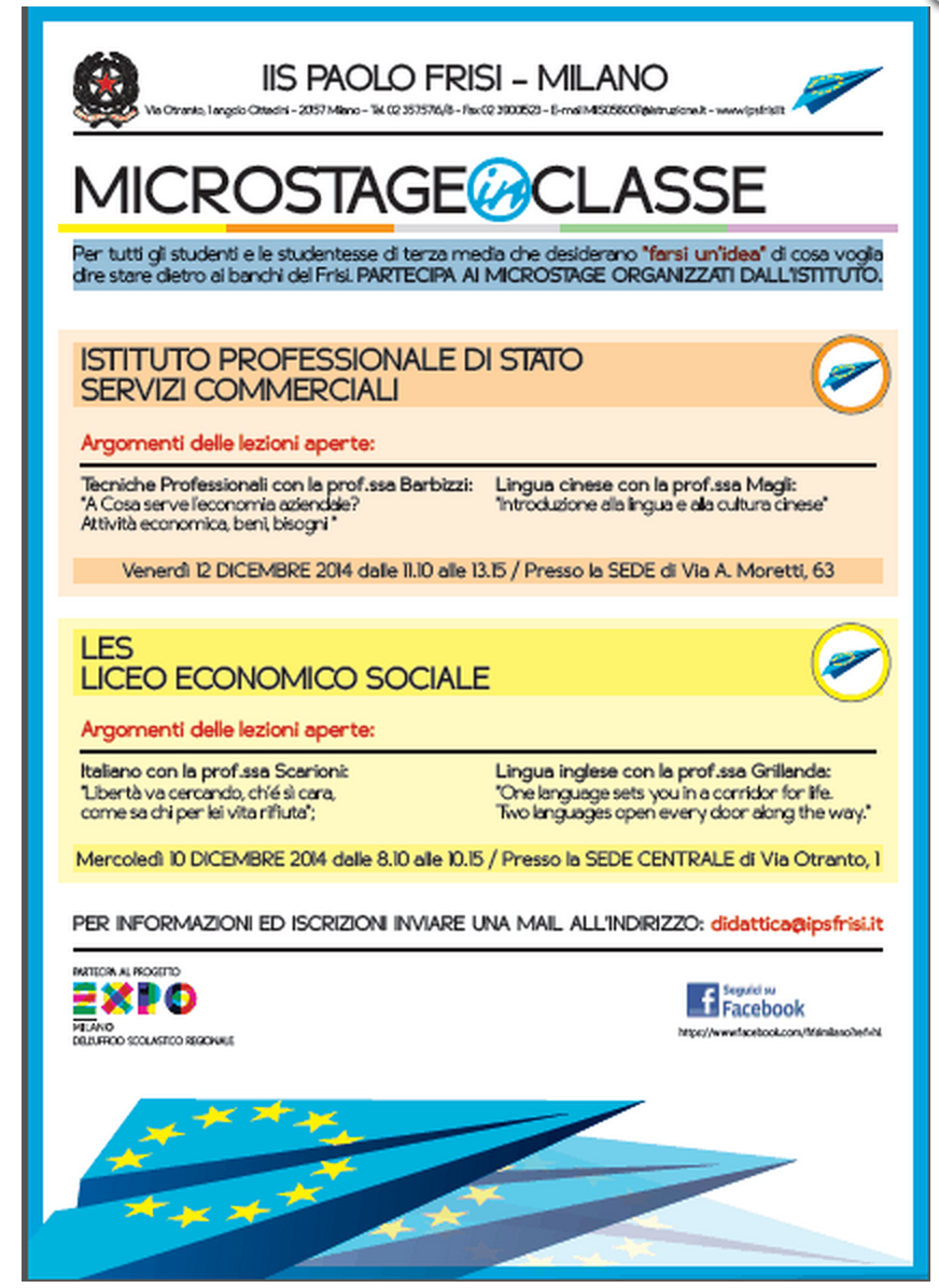 MICROSTAGE IN CLASSE