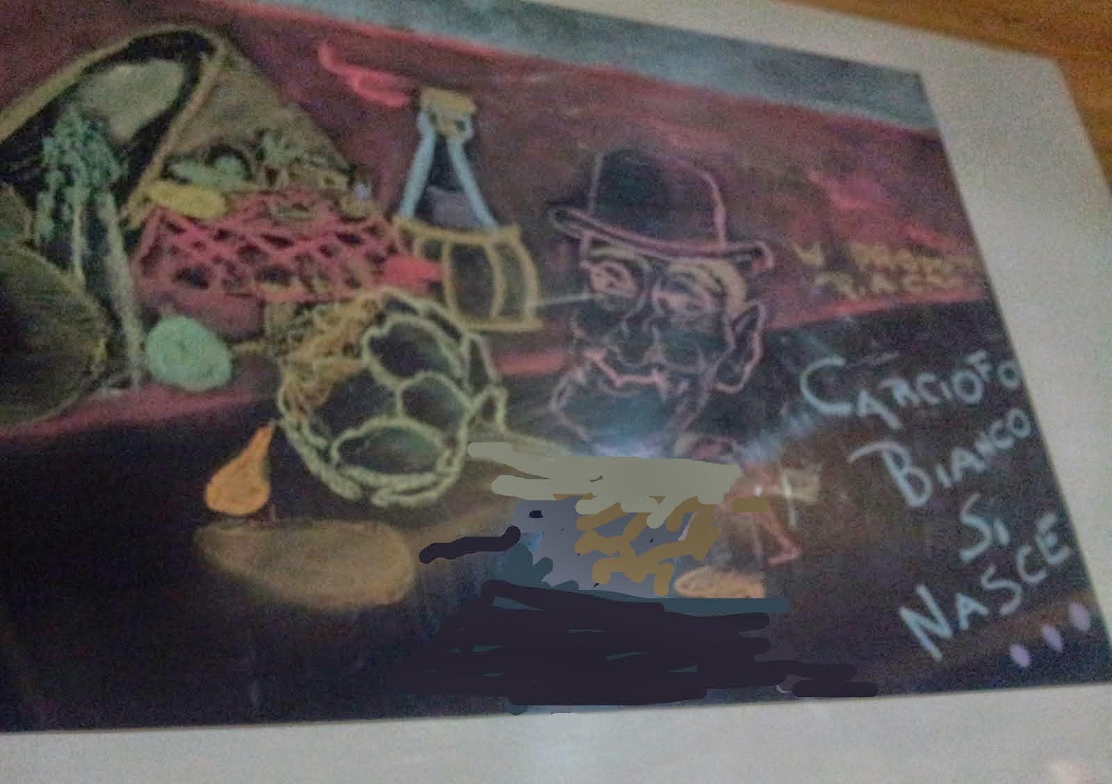 Il dipinto realizzato dagli alunni delle scuole medie di Auletta, dedicata a Totò!