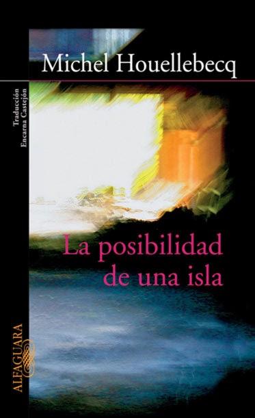 Portada libro la posibilidad de una isla de Michel Houellebecq surrealista