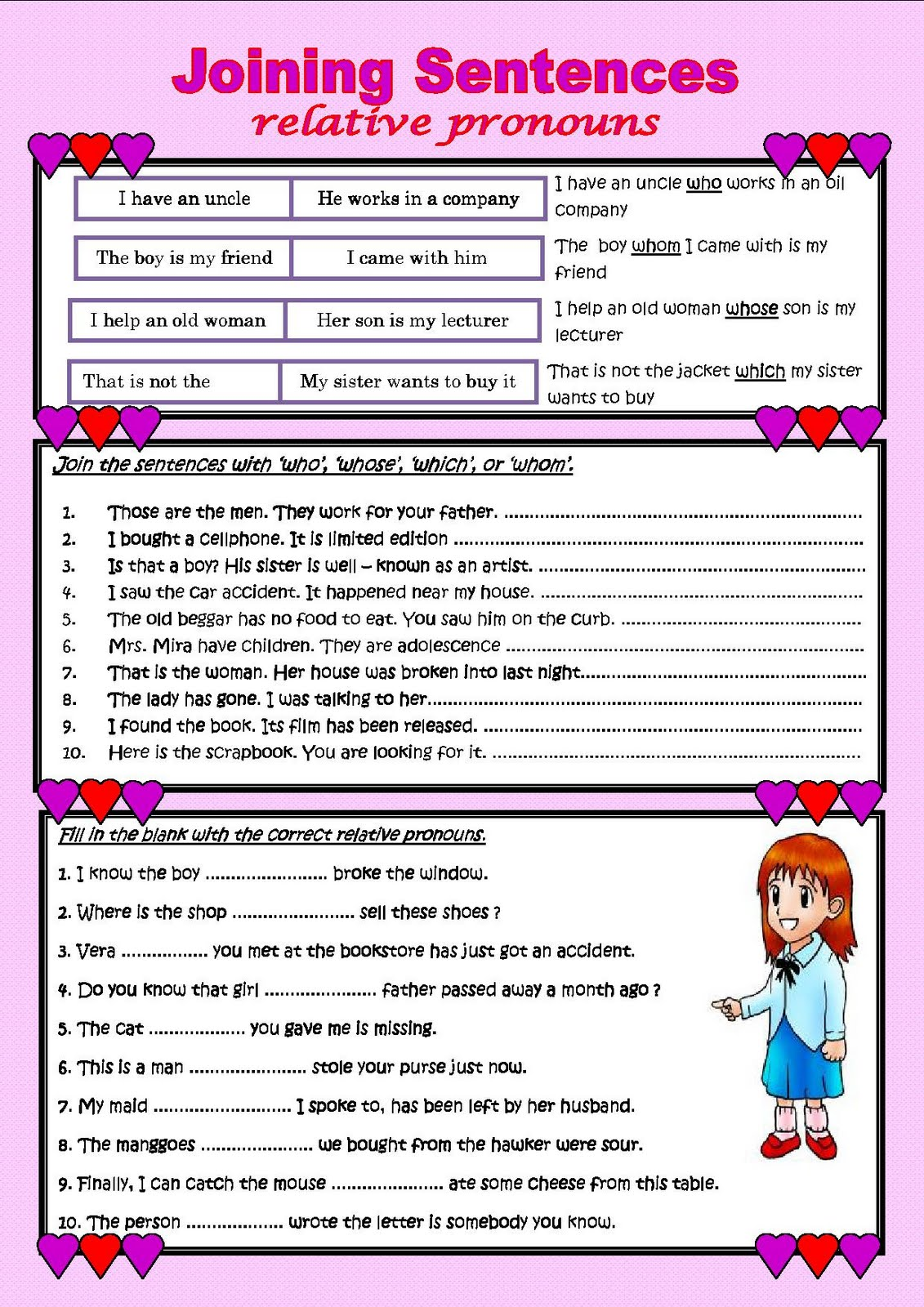 Uncategorized Relative Pronoun Worksheet my english class may 2011 relative pronouns