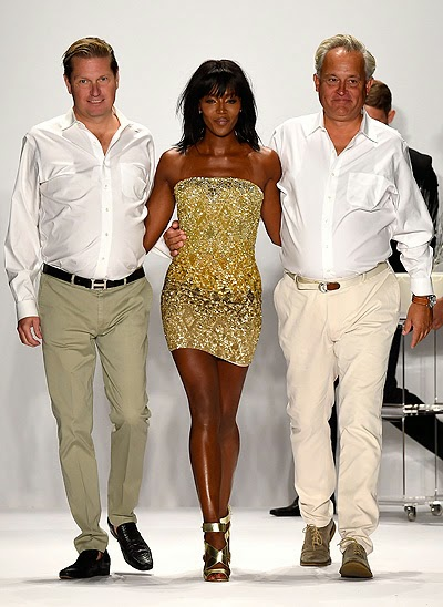 Mark Badgley, Naomi Campbell and James Mischka