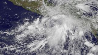 Tropischer Sturm BARBARA vor Mexiko, Barbara, Mexiko, aktuell, Satellitenbild Satellitenbilder, Pazifische Hurrikansaison, Mai, 2013, Vorhersage Forecast