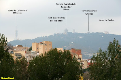 La Torre de Collserola i el Tibidabo des del Parc del Guinardó. Autor: Carlos Albacete