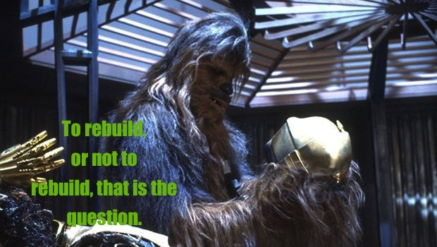 Shakespeare Hamlet Chewbacca Chewy C3PO disassembled Return of the Jedi Meme