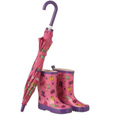 Primark paraguas y botas de agua niña
