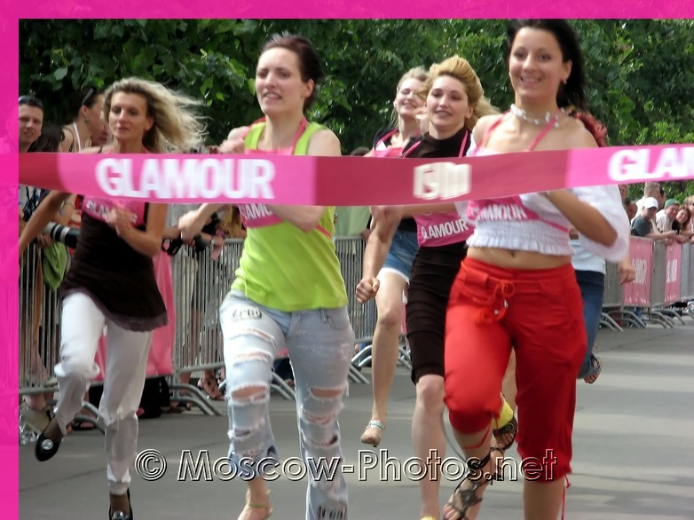 Glamour Stiletto Run - 2006 in Moscow. The final run.