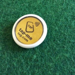 Buy Tap-Me Tag Badges 35 mm recyclable plastic