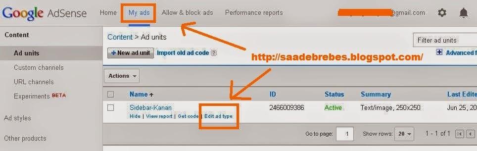 Cara singkat menampilkan iklan adsense hanya gambar saja