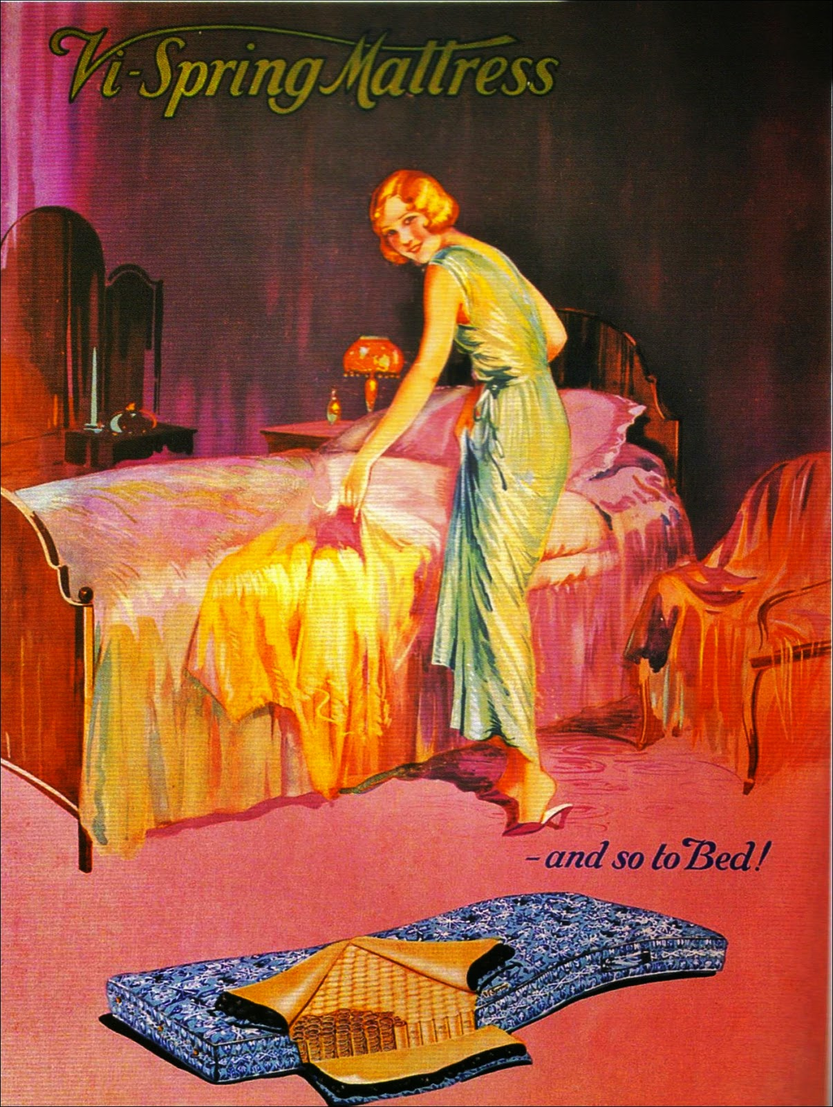 1920s Vi Spring mattress advert