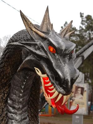 Фото Укринформ: дракон в Одессе