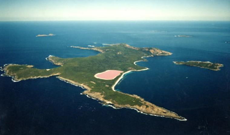3 images of the pink lake in australia. Black Bedroom Furniture Sets. Home Design Ideas