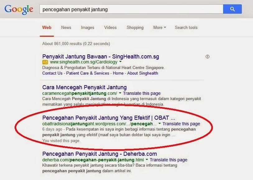 Cara Terindex Google Dengan Artikel Blog