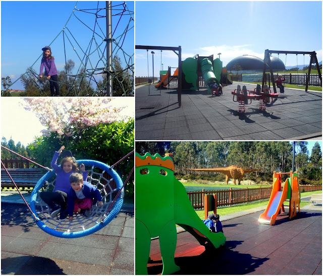 Asturias con niños a dónde vamos hoy? Al Parque Dinosaurio en el MUJA: exhibición gratuita