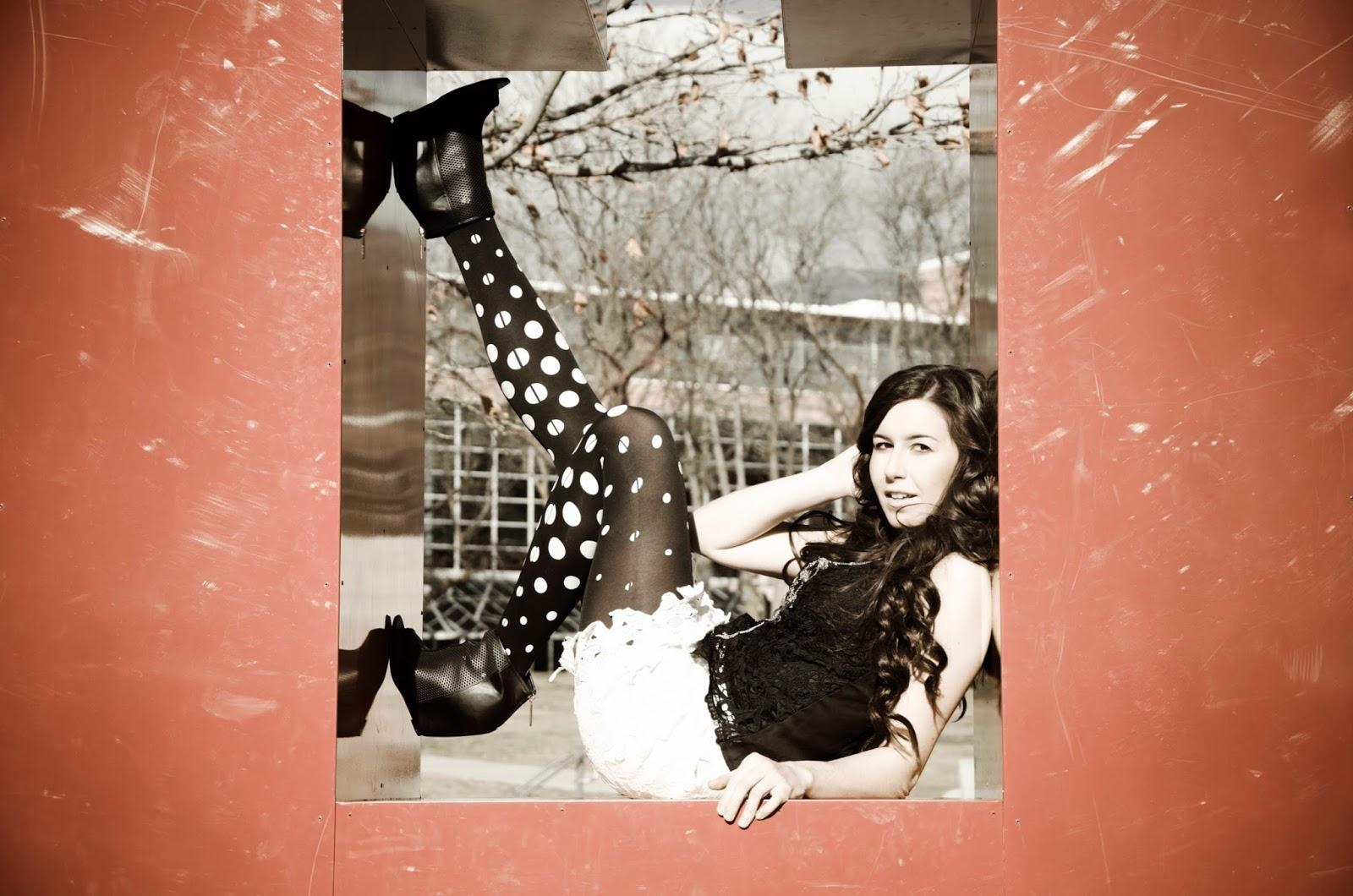 university of utah photoshoot, lace top, lace skirt, lace peplum top, polka dot tights, polka dots, polka dots on tights, trendylegs tights, trendy legs, trendyfine fashion, floral lace skirt, lace tank top,