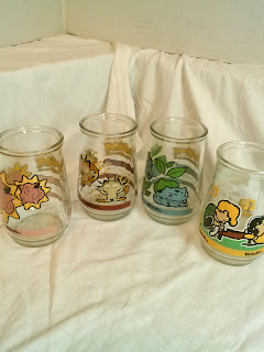 Pokemon and Peanuts vintage collectible glasses