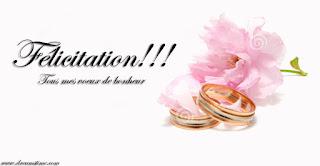 Carte félicitation mariage à imprimer