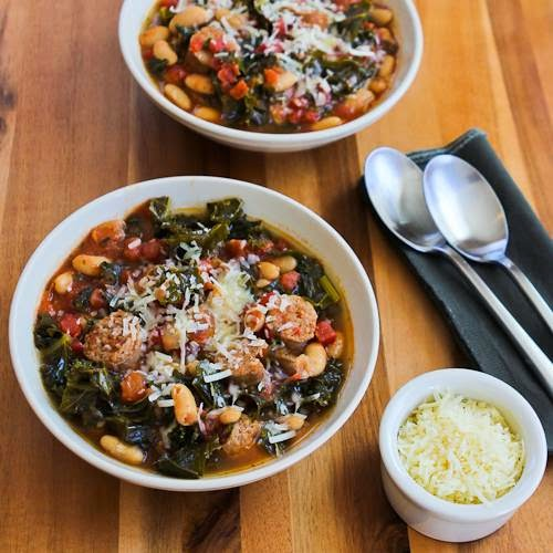 Slow Cooker Cannellini Bean Stew with Tomatoes, Italian Sausage, and ...