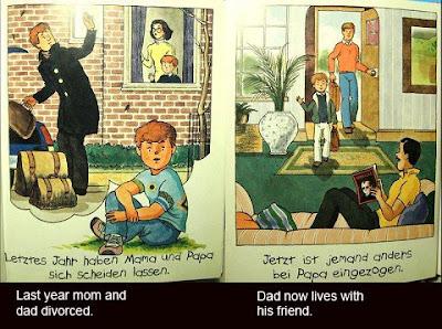 papá se divorcia de mamá y llega la pareja gay