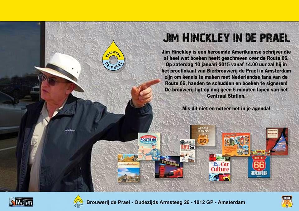 Author Jim Hinckley in de Prael