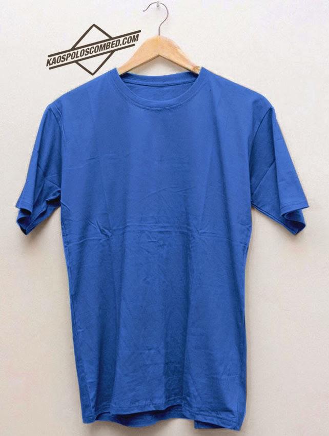 Kaos Polos Biru Muda