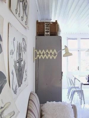 decoracion escandinava industrial vintage