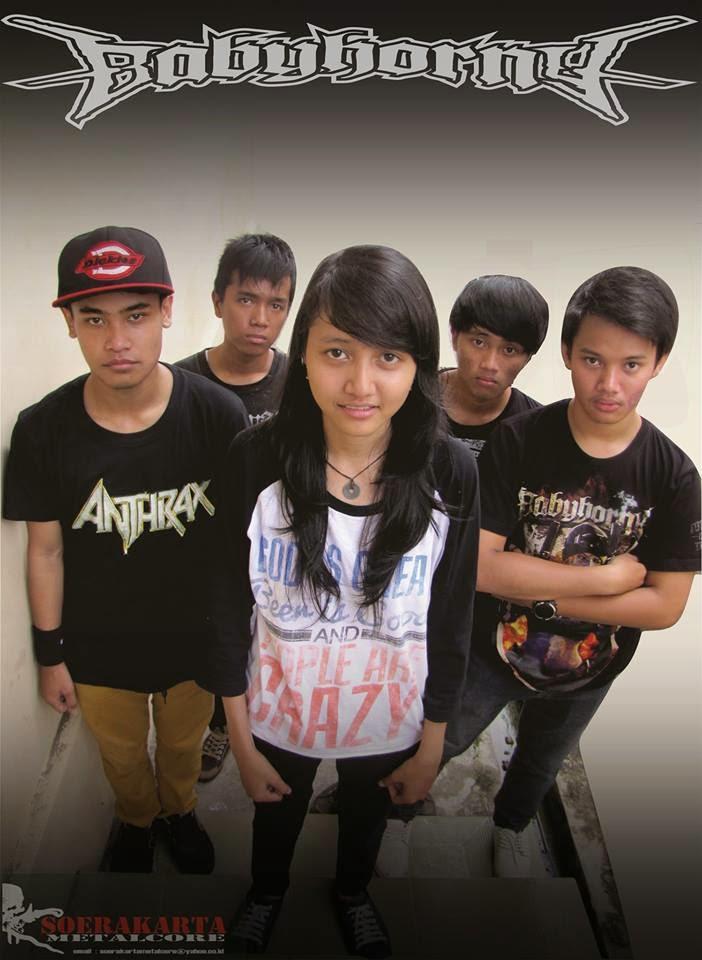 Baby Horny Band Metalcore Karanganyar - Surakarta jawa tengah foto personil vokalis cewek wanita logo artwork wallpaper