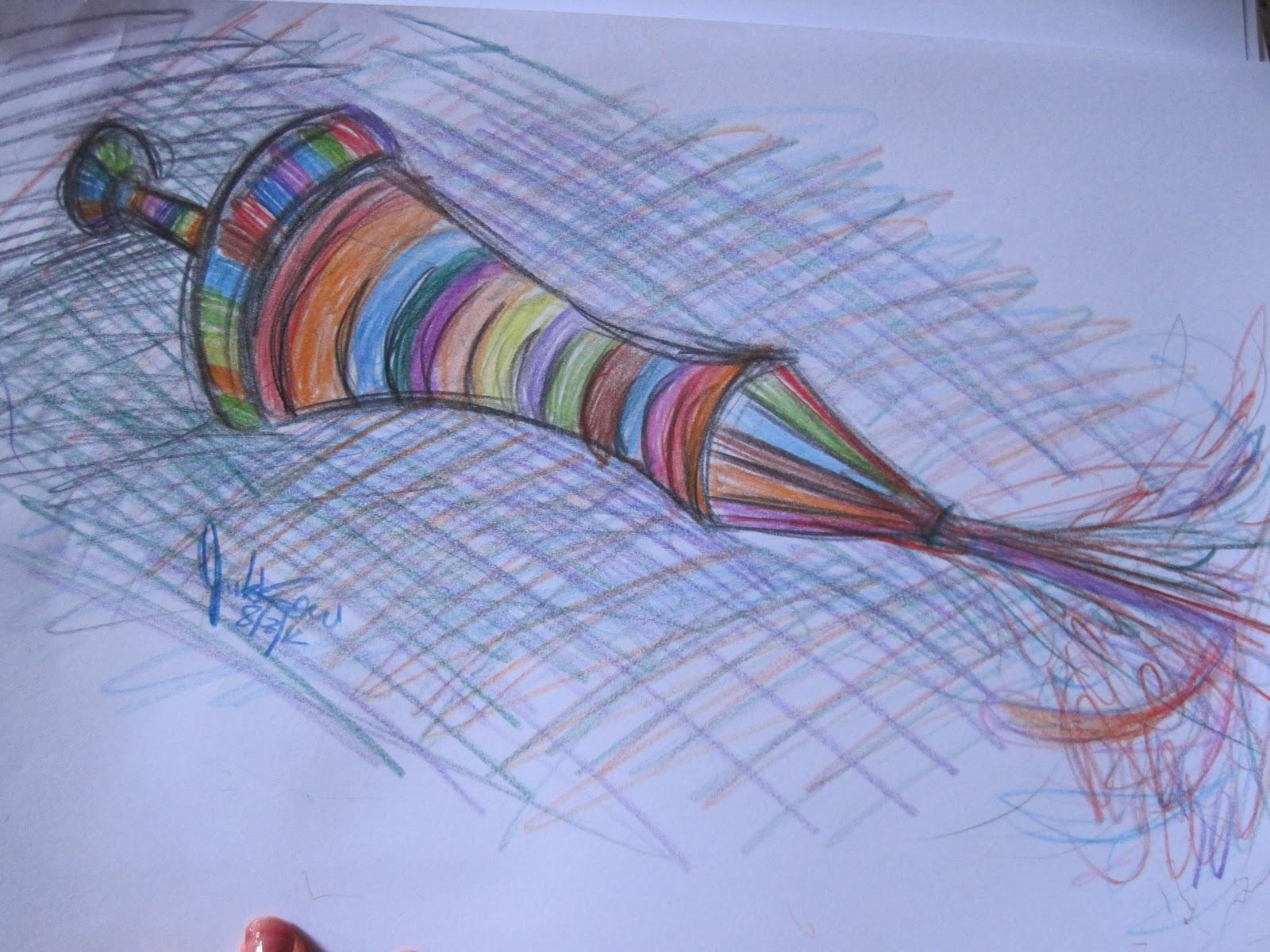how to draw happy holi