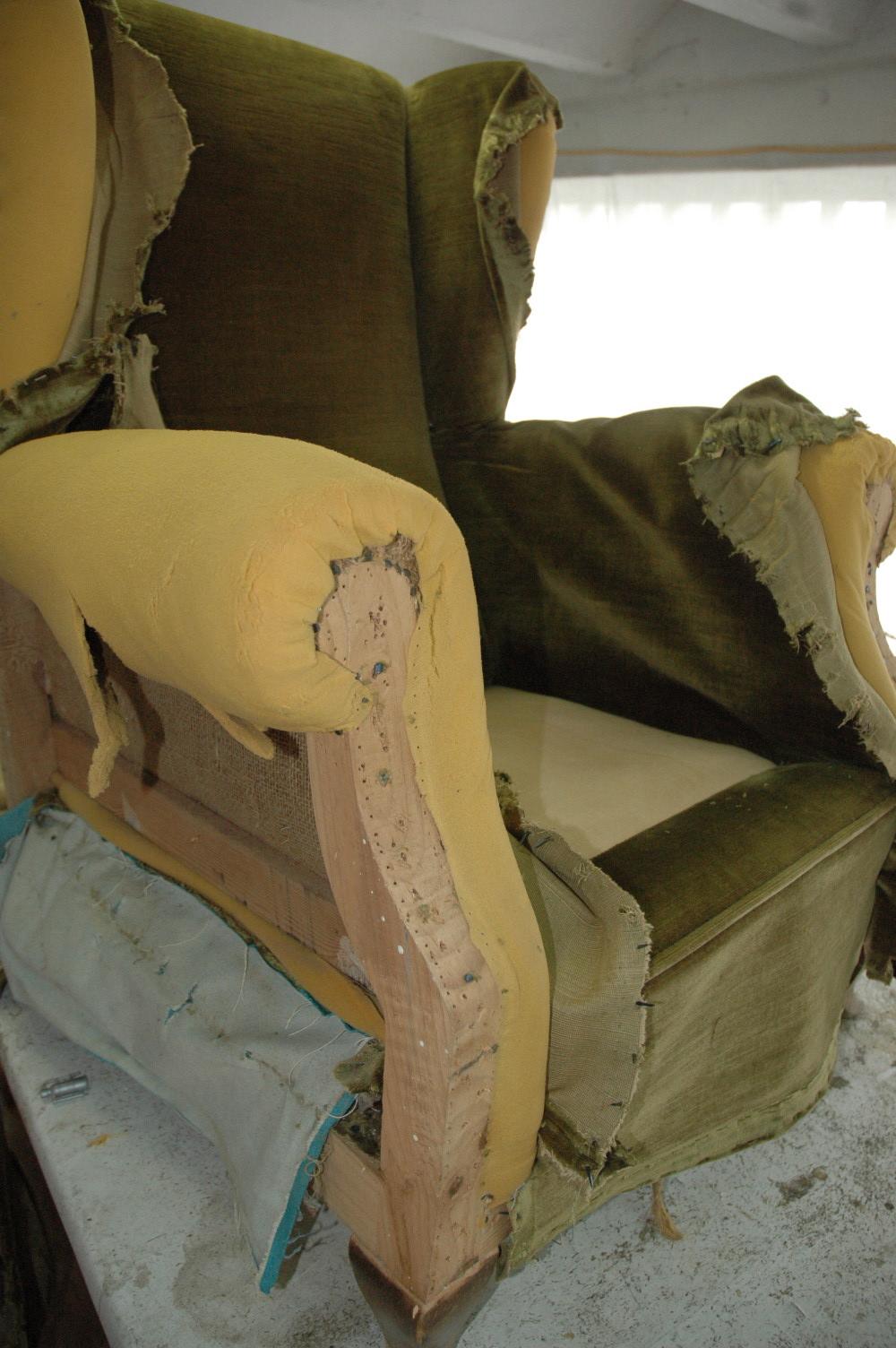 Tap zame un sill n muy helicoidal - Como tapizar un sillon en casa ...