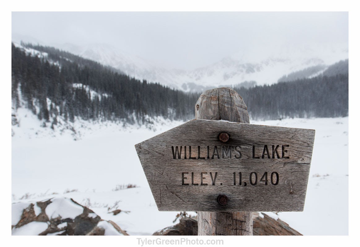 Williams Lake, elevation 11,040 feet