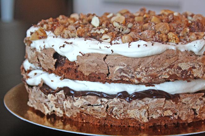 chokladtårta med maräng