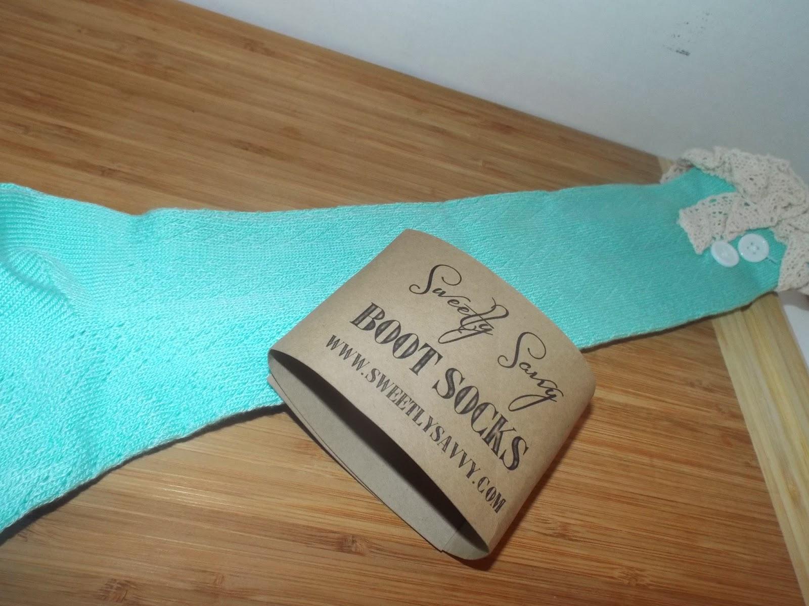 Sweetly Savvy Boot Socks: Tiffany Blue