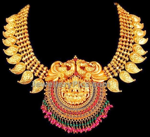 josalukkas mango antique necklace design