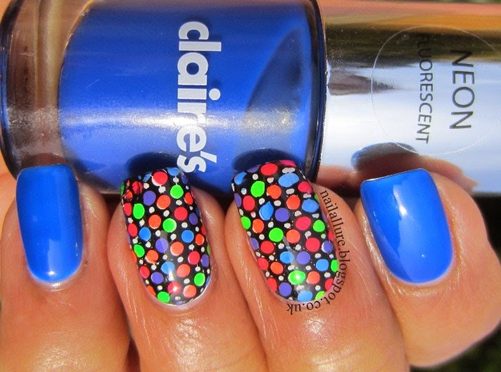 Colourful Neon Stamping Manicure