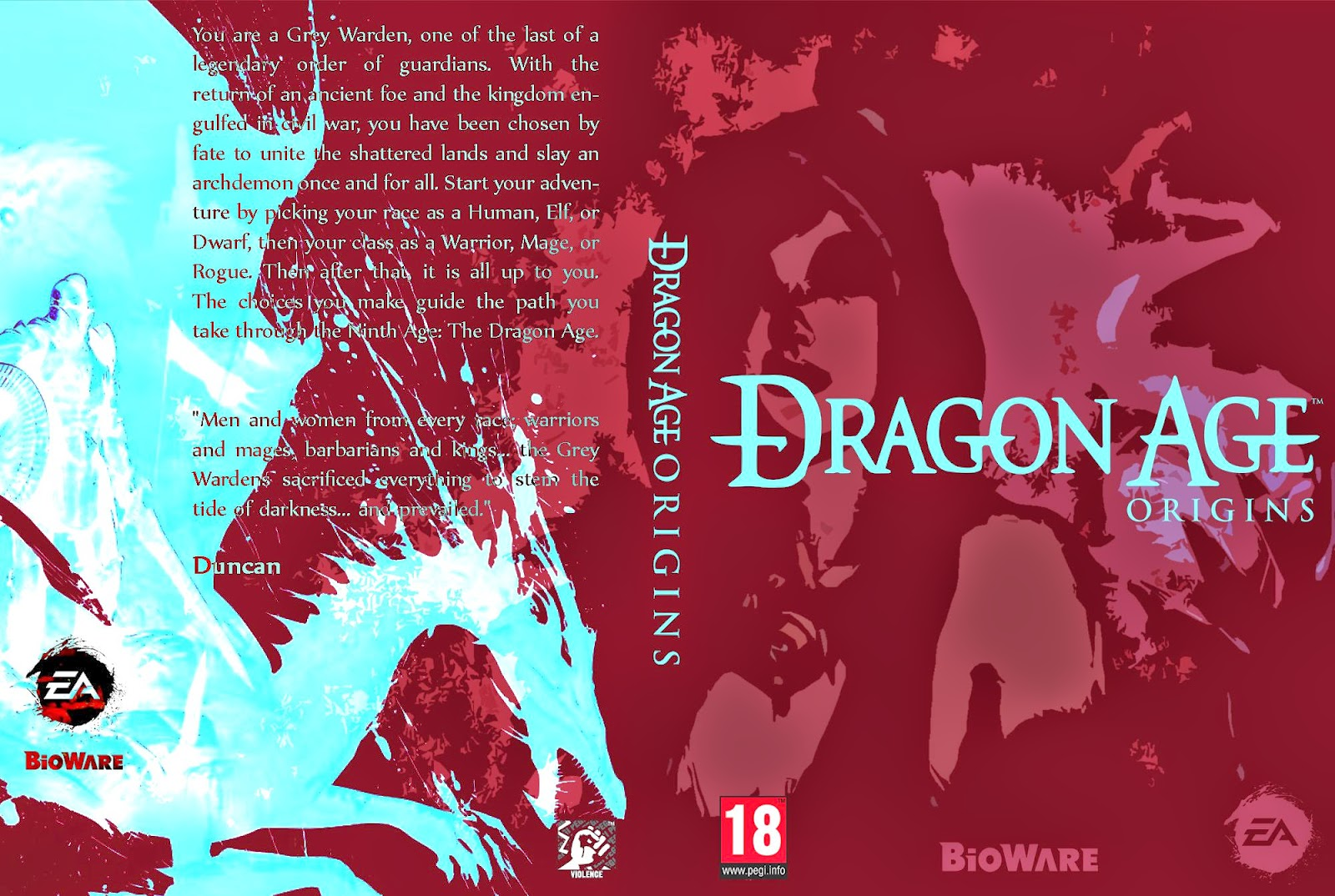 Capa Dragon Age Origins PC
