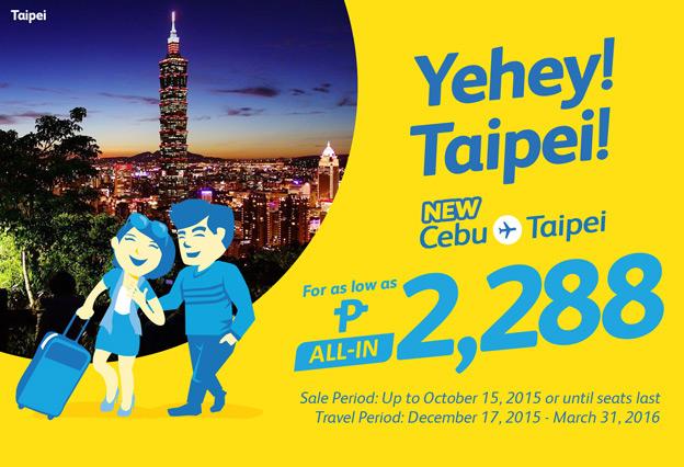 Cebu Pacific Promo Taipei Taiwan 2015