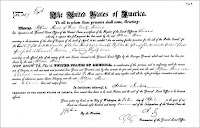 1829 Land Warrant in Greene County, Indiana to William Reves