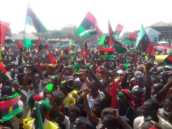 Nnamdi Kanu Arrives Court Today Amid Large Army Of Policemen, Biafrian Protests Continue