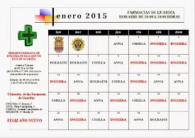 FARMACIAS DE GUARDIA ENERO 2015