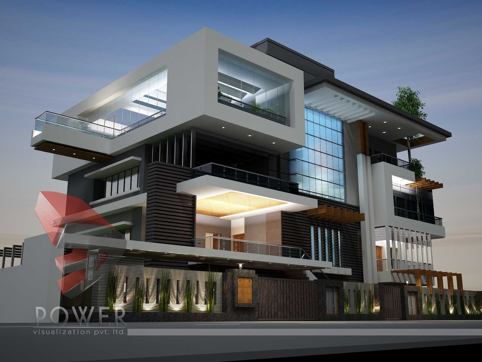 Ultra modern architecture for Modern home design 3d