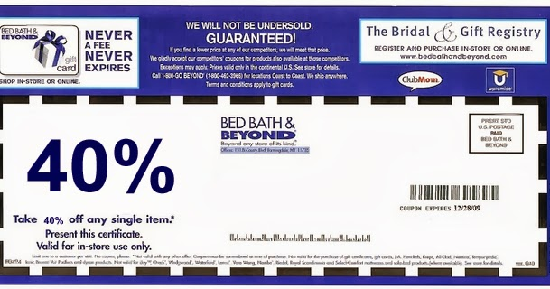 Bed And And Beyond Coupon