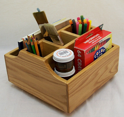 Lazy Susan craft caddy - wood