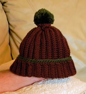 Free crochet pattern:  Easy Ribbed Beanie Hat
