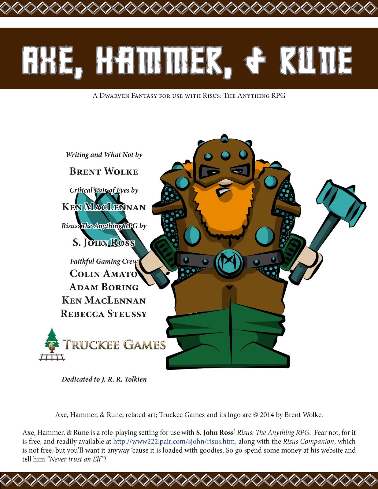 Axe, Hammer, & Rune