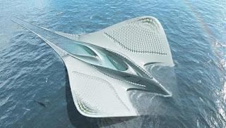 El Meriens barco futurista