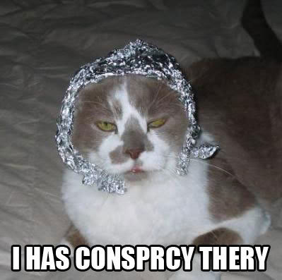 conspiracy theory tin foil hat