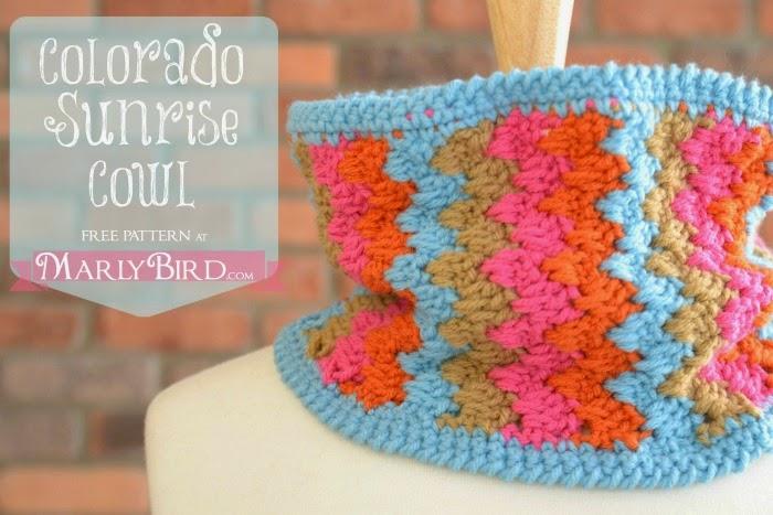 free crochet pattern chevron cowl