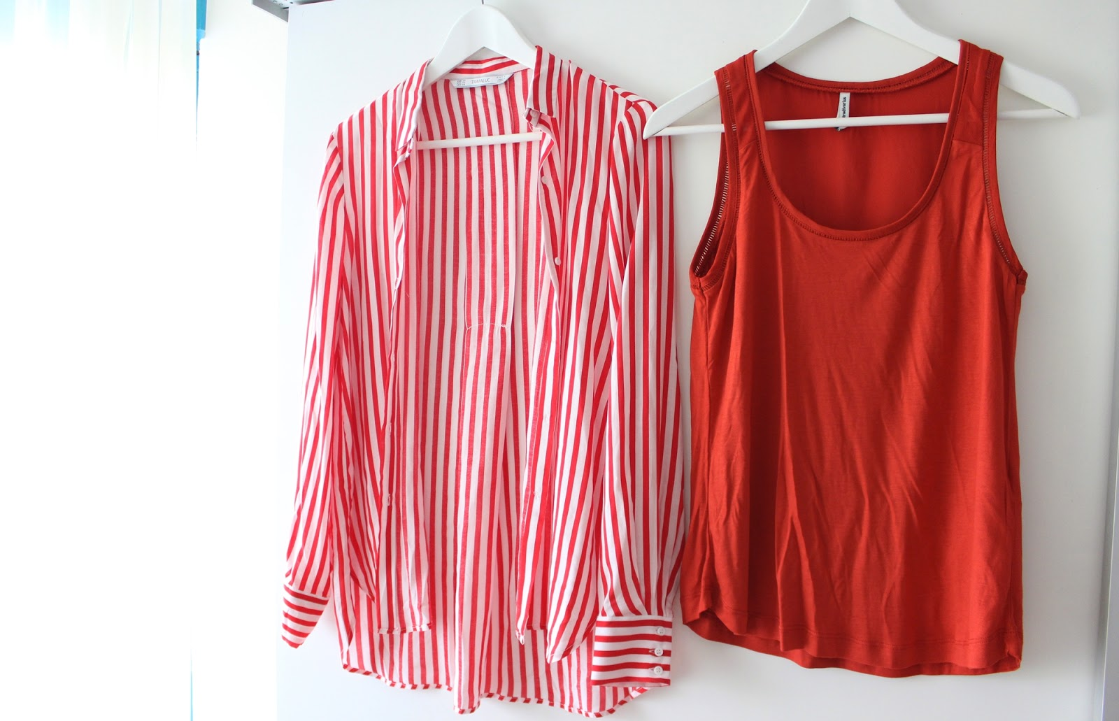 Barcelona shopping haul zara stradivarius stripes blouse shirt